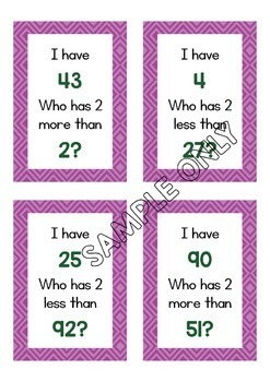 I Have Who Has Maths Game Bundle - Numbers up to 120