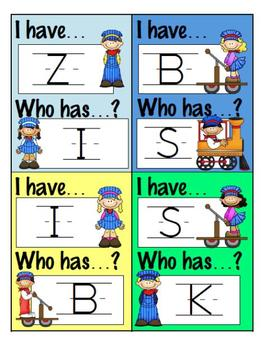 I Have Who Has? Game - Capital Letters