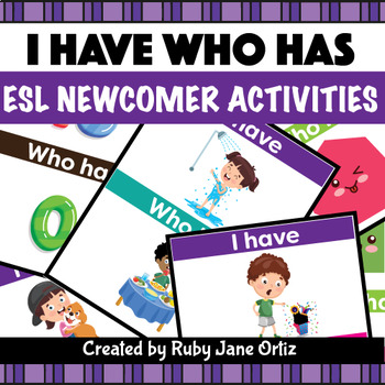 I Have Who Has Game Cards (240) - ESL Newcomer Activities