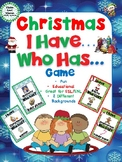 I Have, Who Has? Game – Christmas -- Great for ESL/ENL
