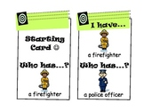 """I Have, Who Has?"" Game (Community Helpers, Jobs, Occupations)"