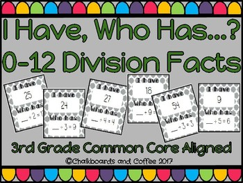 I Have Who Has Game: Division Facts