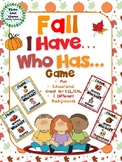 I Have, Who Has? Game – Fall - Autumn -- Great for ESL/ENL