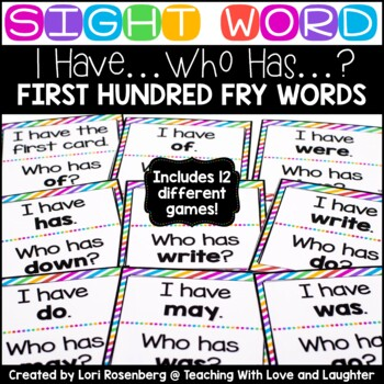 I Have Who Has Game {First Hundred Fry Words}
