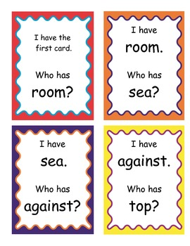 I Have, Who Has Game-Fourth Grade High Frequency Words