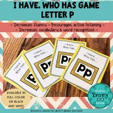 I Have, Who Has Game - Letter P