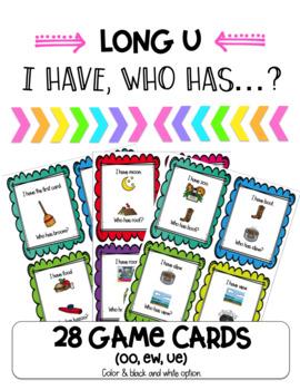 I Have, Who Has Game-Long U (oo, ew, ue)