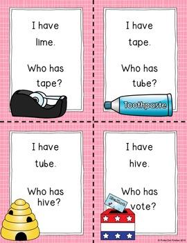 I Have, Who Has Game: Long Vowels Review