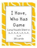 I Have, Who Has Game Long Vowels Silent e