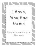 I Have, Who Has Game Long e (e, ea, ee, e_e)