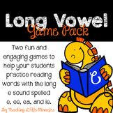 Long e (spelled with e, ea, ee, ie) Game Pack