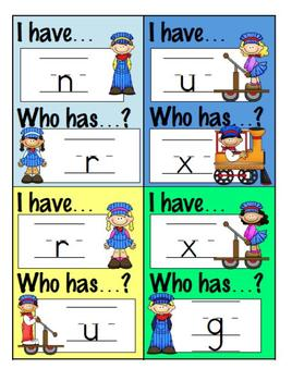 I Have Who Has? Game - Lowercase Letters