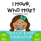 I Have, Who Has Game: Middle & End Digraphs