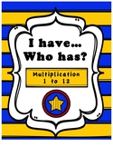 I Have, Who Has? Game - Multiplication 1 to 12