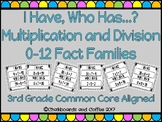 I Have Who Has Game: Multiplication and Division Fact Families
