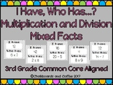 I Have Who Has Multiplication and Division