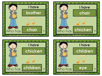 I Have - Who Has Game *Music* Theme *Nouns *Dolch Sight Words **  24 cards