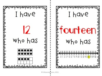 I Have Who Has Numbers |  Kindergarten Number Sense Game