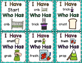 I Have Who Has Game: Phonics Edition {R Consonant Blends FREEBIE}