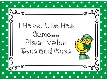 Math Game: Place Value; Tens and Ones