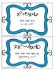 I Have, Who Has Game--Quadratic Equations