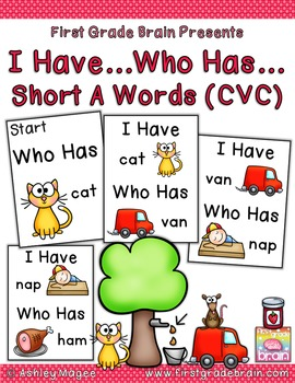 I Have Who Has Game - Short A Words (CVC)