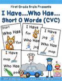 I Have Who Has Game - Short O Words (CVC)