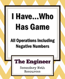 I Have... Who Has? Game (Single Operation)