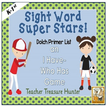 I Have - Who Has Game *Sports* Theme **Dolch Sight Words *