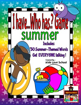 I Have...Who Has? Game--Summer Vocabulary-ENGLISH Version