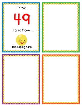 """""""I Have, Who Has?"""" Game - What Comes Next? Counting Sequence 1-100"""