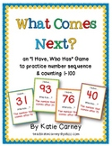 """I Have, Who Has?"" Game - What Comes Next? Counting Sequen"