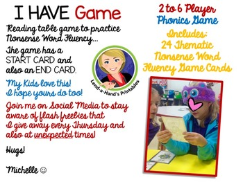 Father's Day Nonsense Word Fluency RTI Resource I Have Who Has Game