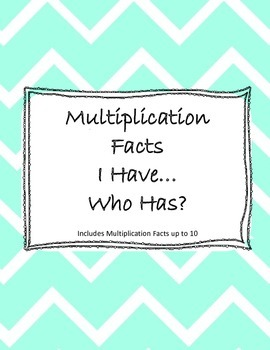 I Have... Who Has? Game for Multiplication