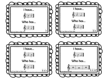 """""""I Have Who Has?"""" Game for Recorders"""