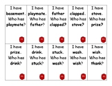 I Have, Who Has? Game for SnapWords list E