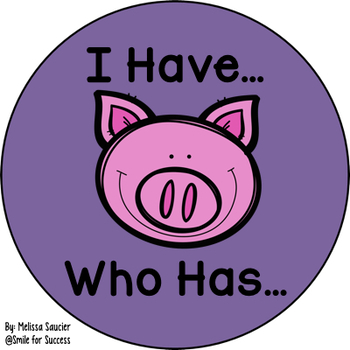 I Have, Who Has Game for sounds of OI/OY {Oink/Toy}