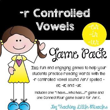 -r Controlled Vowels /er/ Sound Game Pack