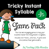 Tricky Instant Syllable -le Game Pack