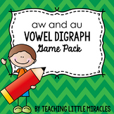 Vowel Digraphs /aw/ and /au/ Game Pack