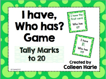 I Have, Who Has? Game with Tally Marks
