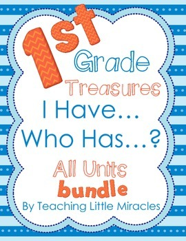 I Have, Who Has Games - 1st Grade Treasures All Units Bundled!