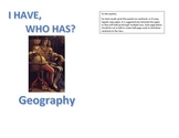 I Have Who Has Geography Review Game: Map Terms, Land and