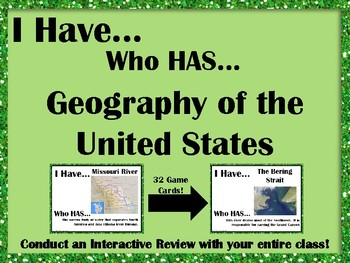 I Have..Who Has..Geography of the United States