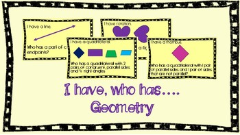 I Have, Who Has...Geometry