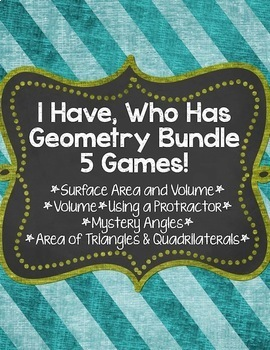I Have, Who Has... Geometry Bundle {5 Different Games} Save $5.50!