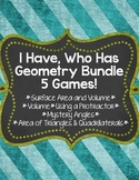 I Have, Who Has... Geometry Bundle {5 Different Games}