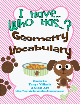 I Have Who Has? Geometry Review - Perfect for Centers!