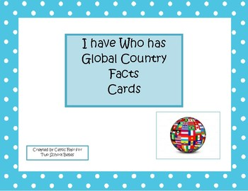 I Have Who Has Global facts card