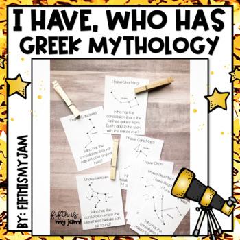 I Have Who Has Greek Mythological Constellations